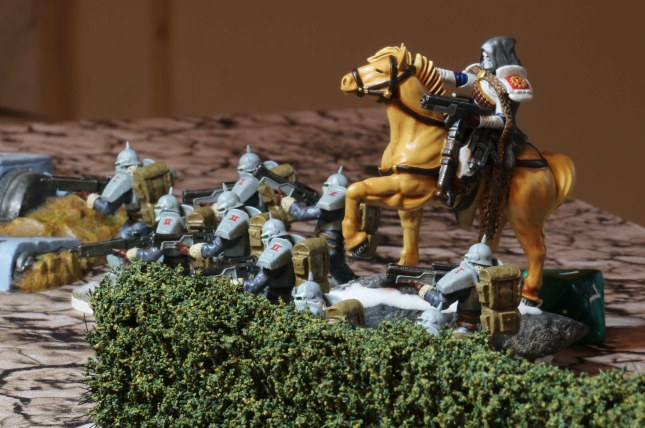 Hussars in starting position