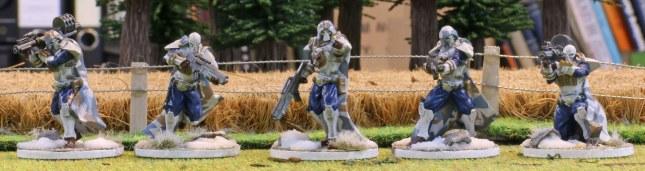 (new) Venusian Ranger models (front)