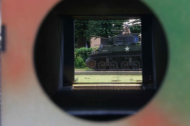 View through the periscope