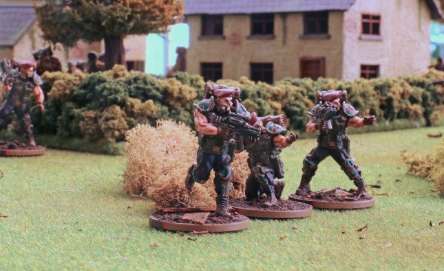 Blood Berets advancing