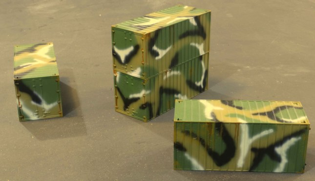 Camouflaged ISO containers