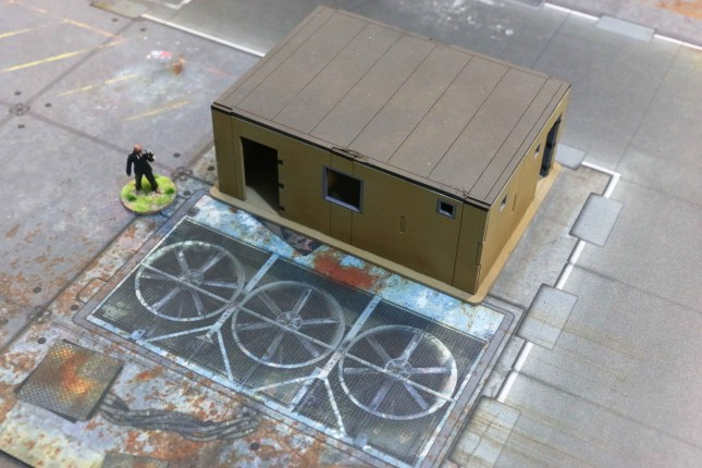 6'x4' G-Mat- Quarantine Zone [Detail with building and miniature]