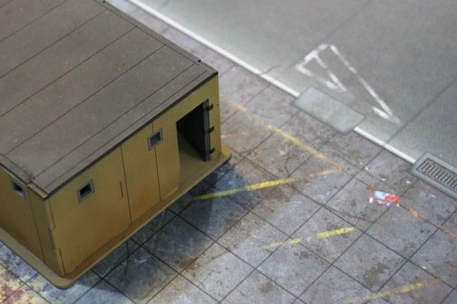 6'x4' G-Mat- Quarantine Zone [Detail with building]