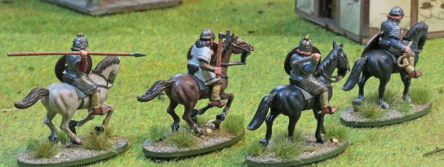 Anglo-Saxon mounted Heathguards [rear view]