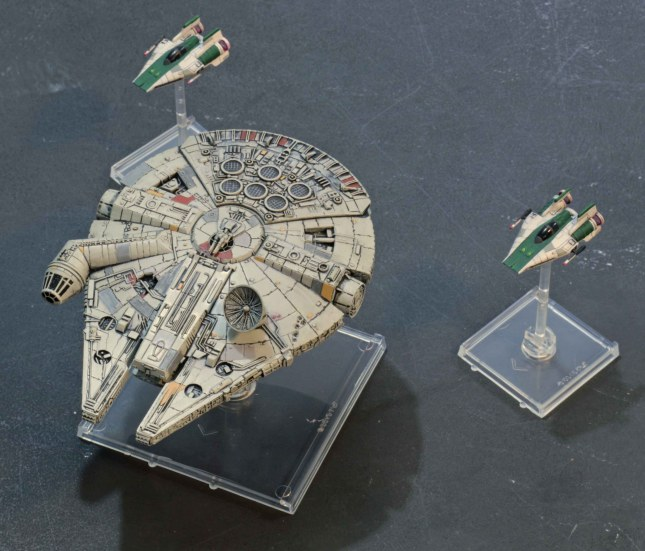 X-Wing Millenium Falcon and a-Wings