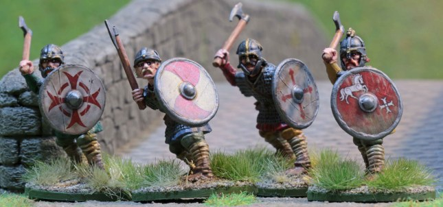 Anglo-Saxon Thegns with axes
