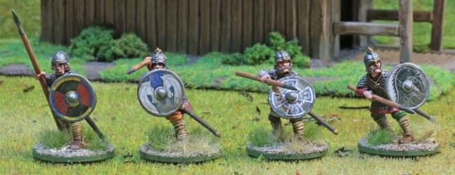 Anglo-Saxon Thegns with spears