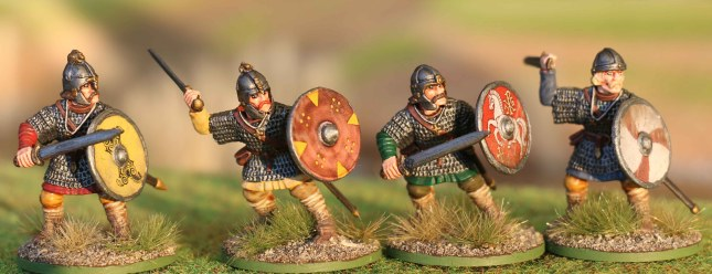 Anglo-Saxon Thegns with swords