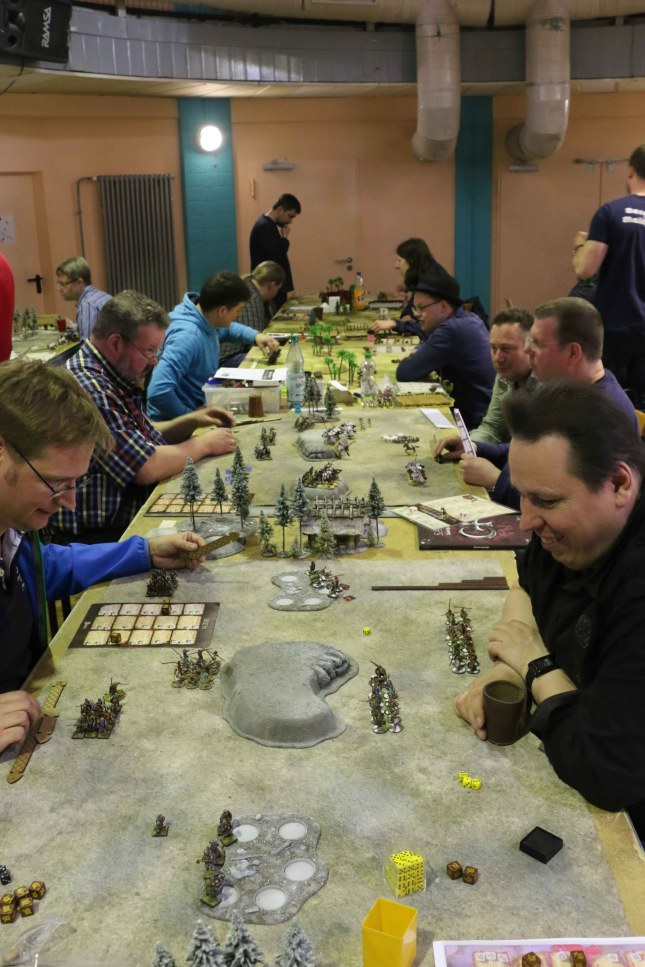 SAGA Tournament II Klingencon (a view over the tables)