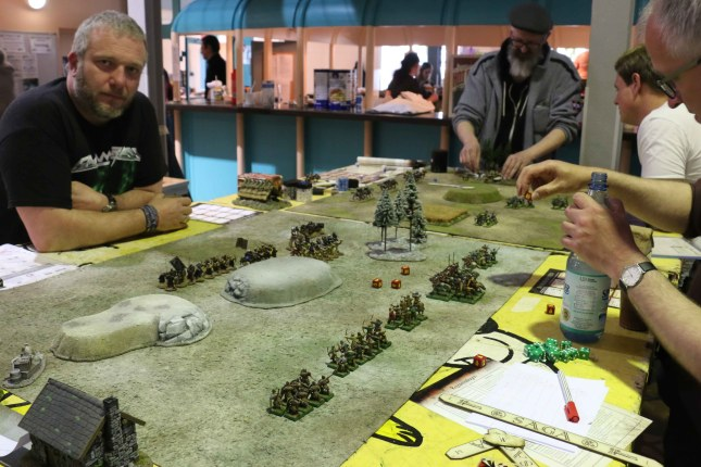 SAGA Tournament II Klingencon (another view over the tables)