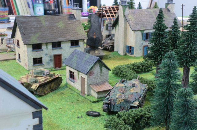 Luchs and Hetzer securing the flank