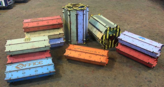 Infinity containers by Antenocities Workshop
