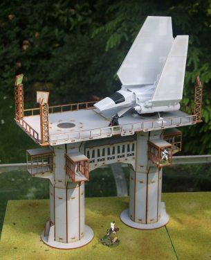 Battle Kiwi Star Wars Legion Landing Pad with Lamda Class shuttle