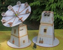 Battle Kiwi Star Wars Legion Turbo Laser turret and Shiled Generator dish switched around
