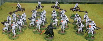 Star Wars Legion Imperial troops from two core sets plus Darth Vader