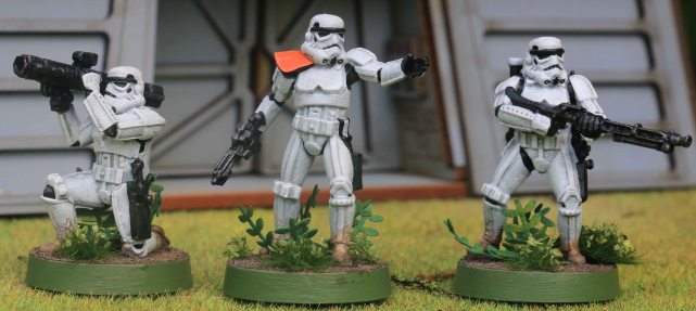 Star Wars Legion Stormtrooper squad leader and heavy weapons