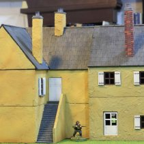 Row of French houses